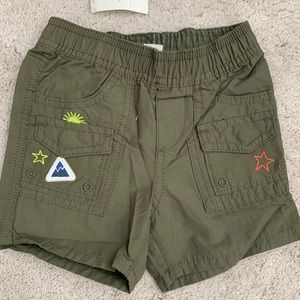NWT Gap Baby Boy Scout Patch Surplus Shorts